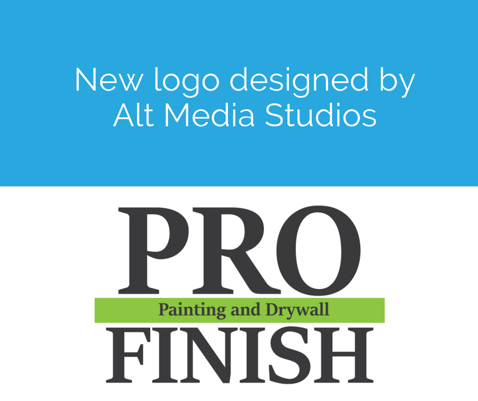 New Pro Finish logo designed by the graphic design team at Alt Media Studios